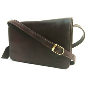 chestnut brown flap over bag