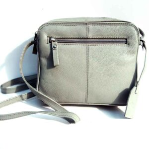 small grey leather bag
