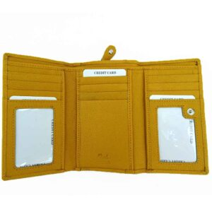 leather tr fold purse wallet